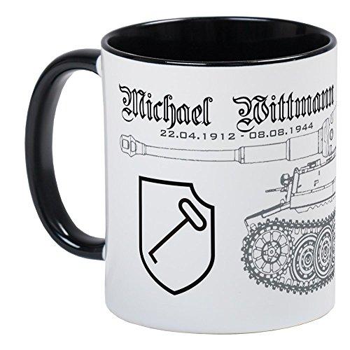 CafePress–Panzer Ace Michael Lee Wittman–Einzigartige Kaffee Tasse, Kaffeetasse, Tee, Tasse, White/Black Inside, S
