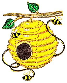 PARITA Tree Honeycomb Cute Bumble bee Fly Embroidered Badge Iron On Sew On Patch Sticker Kids Cartoon Craft Embroidery for Clothes Jeans Jackets Backpacks  3