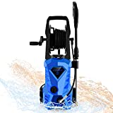 WHOLESUN 3000PSI Pressure Washer Electric 1.8GPM 1600W High Power Washer Machine with Spray Gun & 5 Nozzles (Blue)