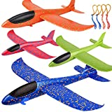 4 Pack Airplane Toys, Upgrade 17.5' Large Throwing Foam Plane, 2 Flight Mode Glider Plane, Flying Toy for Kids, Gifts for 3 4 5 6 7 Year Old Boy, Outdoor Sport Toys Birthday Party Favors Foam Airplane