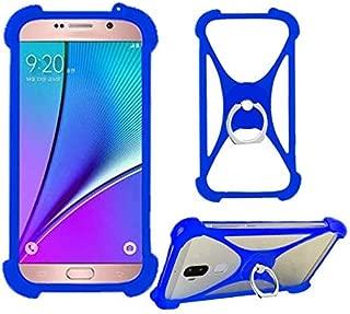 Lankashi Blue Phone Silicone Cover Case for ZTE N818S QLink Wireless/ZTE Quest Plus z3001s Sapphire 4g / Zte Blade T2 Z559dl T2 Lite/Zte Blade Visible R2 Z5151v / ZTE Quartz 4G LTE Prepaid