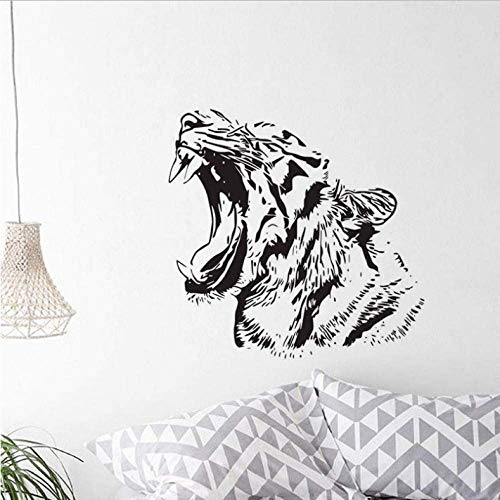 Roaring Tiger Wall Stickers Vinyl Decorative Self Adhesive Sticker Animals Wildcat Wall Decals 61X59Cm