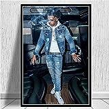 Abkaeh Puzzle 1000 Piezas Cantante de Rap Hip Hop Rompecabezas para Niños para Adultos Desarrollar La Paciencia Enfoque Reducir La Presión Rompecabezas 50x75cm