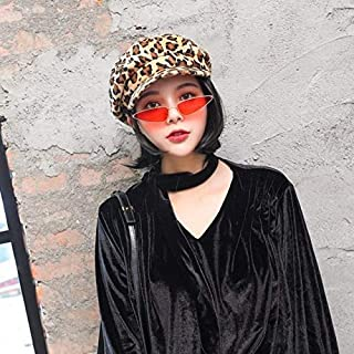 New Fashion Clothing Accessories Vintage Personality Women Wool Leopard Print Cap(yellow) (Color : Yellow)