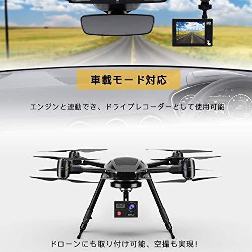 CamparkX20Cアクションカメラ4K高画質2000万画素HDMI出力40M防水WiFi搭載170度広角レンズ