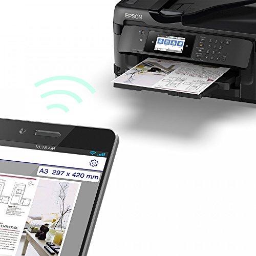 Epson Workforce WF-7710DWF Tintenstrahl 32 Seiten pro Minute 4800 x 2400 DPI A3 WLAN - Multifunktionsgeräte (Tintenstrahl, Farbdruck, 4800 x 2400 DPI, A3, Direkter Druck, Schwarz)