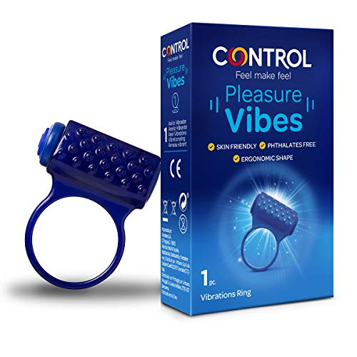 Control Vibes, Anillo Vibrador de Silicona con Puntos en Relieve