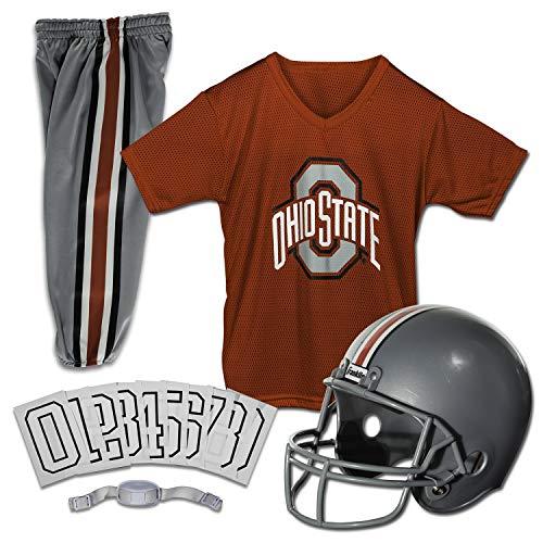 Franklin Sports NCAA Ohio State Buckeyes Kids College Football Uniform Set - Youth Uniform Set - Includes Jersey, Helmet, Pants - Youth Medium