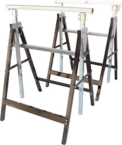 Gerüstbock, höhenverstellbar, 2 Stück, Unterstellbock, 200kg pro Stützbock