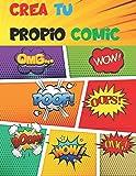 Crea tu propio cómic: 100 plantillas de cómics en blanco - Regalos para niños, adolescentes y adultos