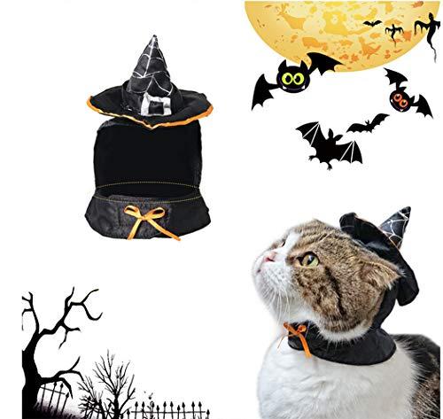 Hillento Linda Bruja de Capa con Capucha, Disfraz de Brujo de Halloween...