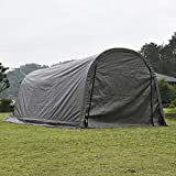 4. walnest Large Heavy Duty Carport Car Canopy Portable Garage Car Canopy Boat Shelter Tent for Party, Wedding, Garden Storage Grey, Round Top Style Portable 10 x 20 x 8 ft