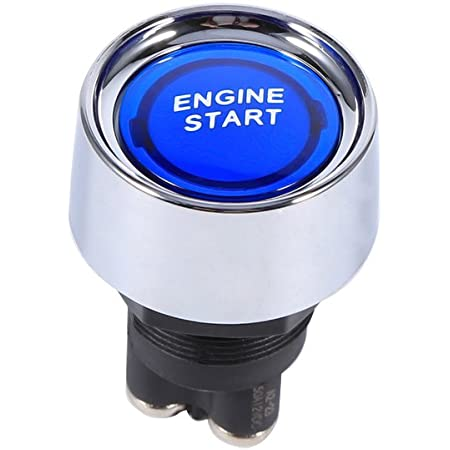 Vgeby 12v Universal Car Engine Start Push Button Ignition Starter Switch For Racing Car Color Blue Business Industry Science