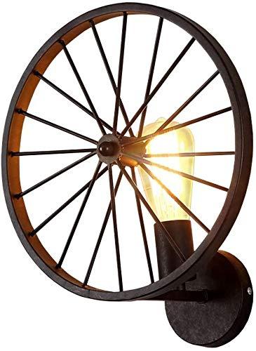 FZDLLFang Aplique de Pared Deco, Retro Industrial lámpara de Pared de la Personalidad Americana Rueda Creativa de Pared de luz Mesa de Bar Restaurante Sala del Pasillo del Pasillo Decorativo