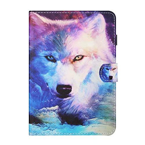 Funda para Samsung Galaxy Tab A 8.0 2019 SM-T290/T295/T297, de piel sintética, función de soporte, con ranura para tarjetas, funda protectora para tablet Wolf