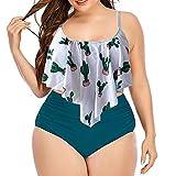 Traje de Baño Mujer Brasileños Bikini de Tiras con Estampado de Triángulo Sexy Tanga Bikinis Mujer de Dos Piezas Bañador, Bañadores Mujer Tallas Grandes
