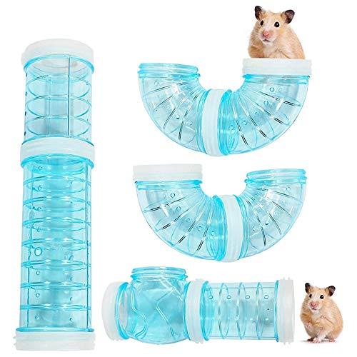 Viitech Hámster DIY túnel para hámster Tubes Adventure – Juego de tubos exteriores transparentes pequeños túnel para mascotas interactivo para hámster y otros animales pequeños