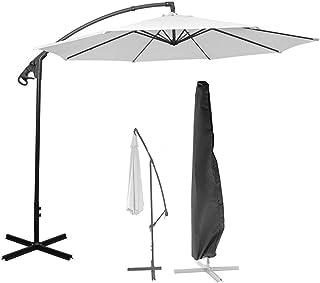 Outdoor Large Cantilever Dust Cover Waterproof Anti-UV Garden Patio Zipper Drawstring Umbrella Cover Black (Size : 205cm)