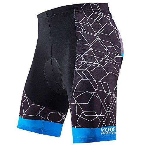 Fahrrad-Shorts für Herren, gepolstert, Gel, Rennrad-Kleidung, Radlerhose, ohne Beine, Blau, Größe S