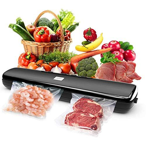 LTLWSH Envasadora al Vacío 4 en 1 para Uso Doméstico y Comercial, Máquina Selladora al Vacio Alimentos Secos y Húmedos, Incluye 15 Bolsas de vacío de Grado alimenticio