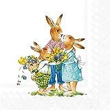 Boston International Ihr 3-Ply Tovaglioli di Carta per Il Pranzo, Famiglia di Pasqua