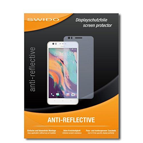 SWIDO Schutzfolie für HTC Desire 10 Lifestyle [2 Stück] Anti-Reflex MATT Entspiegelnd, Hoher Festigkeitgrad, Schutz vor Kratzer/Bildschirmschutz, Bildschirmschutzfolie, Panzerglas-Folie