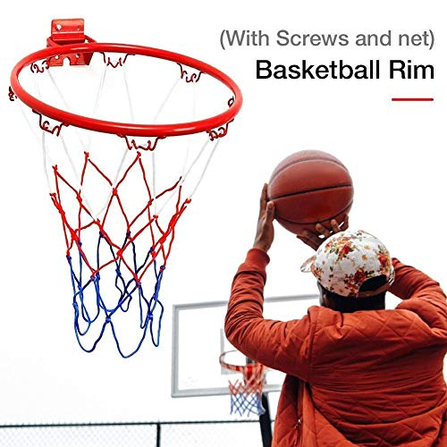STAMONY Basketbal net 32CM Opknoping Basketbal Muur Gemonteerd Doel Hoop Rim Net Sport Netten Binnen & Outdoor Basketbal Muur Gemonteerd Opknoping Mand Net