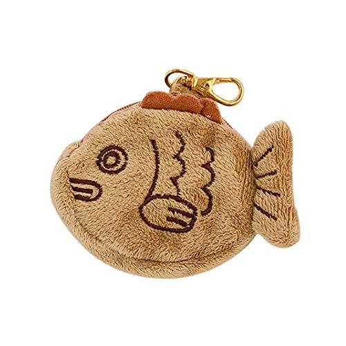 MYBOON Cute Snapper Bag Pequeña muñeca Monedero Monedero Cartera Tarjeta con Cremallera Caja de Almacenamiento de Monedas Monedero Monedero Marrón