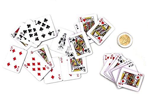 Mini-Kartenspiel 54 Karten ca. 4x3cm Taschenkartenspiel