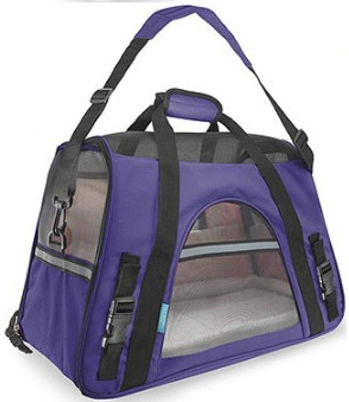 Aoligei Doggy Handbag Travel Backpack Shoulder Bag Portable Breathable Outdoor Oxford 48  25  33cm