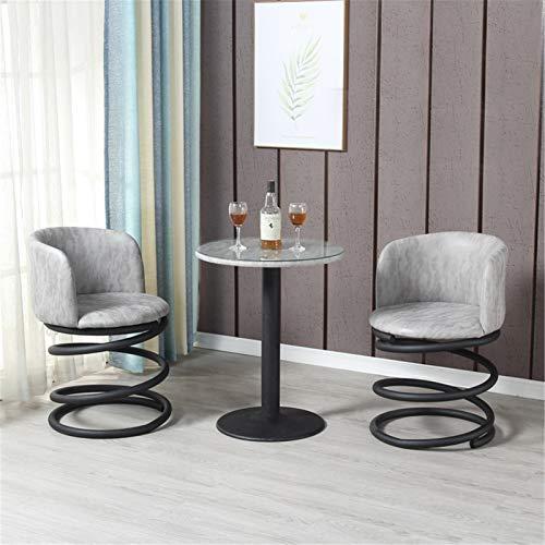 Sedia da Pranzo Cucina,Sedia Club Bucket,Lounge Pub Bar Accent Chair con Heavy Duty Base Ecopelle Sedia D'angolo Soggiorno-D 50 * 50 * 78(cm)
