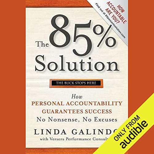 The 85% Solution audiobook cover art