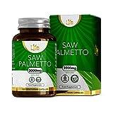 L1fe Nutrition Saw Palmetto & Zinc Capsules | 3000mg Saw-Palmetto Extract & 15mg Zinc per Serving | 120 Vegan Capsules | Non-GMO, Dairy, Allergen & Gluten Free | Manufactured in The UK