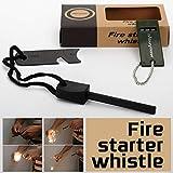 Mbuynow Kit Allume Feu Magnésium Portable Flint Fire Starter Allume Feu de Survie...