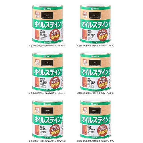 カンペハピオ オイルステインA ウォルナット 1.6L 6缶セット