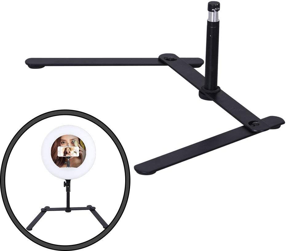 Phone//Camera Bracket Yidoblo FD-480 18 96W 480 SMD LED Ring Light Dimmable 3200K-5500K Bi-Color Camera Photo Studio Video Portrait Photography Continuous Lighting Shoot Adapter Pink Mirror