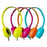 Bulk Headphones 4 Pack School Headphones for Classroom -YMJ(Y4 Color Mixed) Earphones Earbuds for Kids,Students, Libraries, Laboratories (Mix)