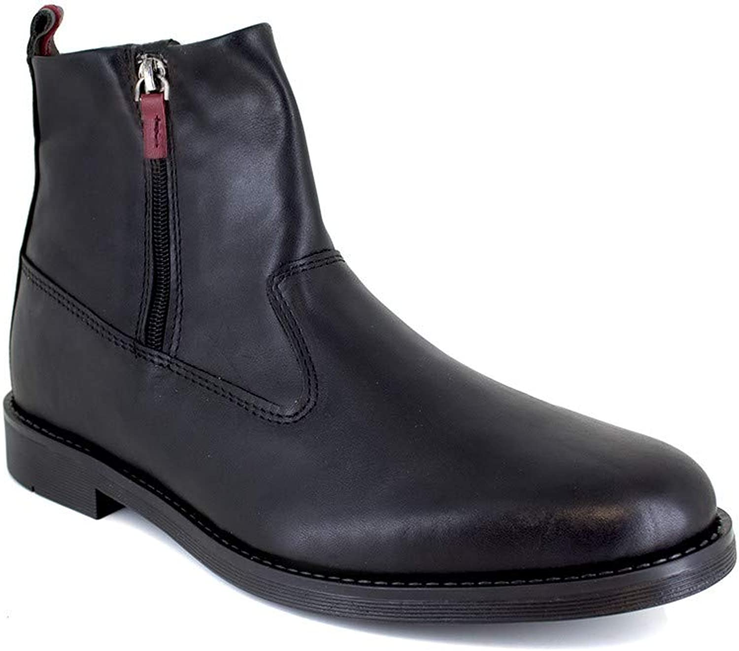 J.Bradford Low Boots Black Leather JB-CARERA