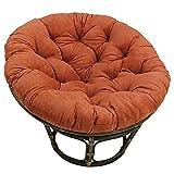 FCXBQ Cojín de ratán, 130 cm, redondo, de algodón, suave, para colgar en el patio, tatami, naranja, 130 cm