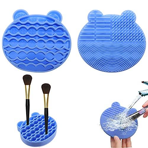 Limpieza Cosmético Cepillo Limpieza de Silicona Limpiador de brochas de maquillaje de silicona Cosméticos de silicona 2 en 1 Adecuado para limpiar, secar y almacenar brochas de maquillaje