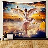 RTEAQ Tapiz Pared Angel Girl in Galaxy Hermoso Paisaje Tapices Tapices Tapices Decoraciones Dormitorio Sala de Estar Dormitorio-59x79inch