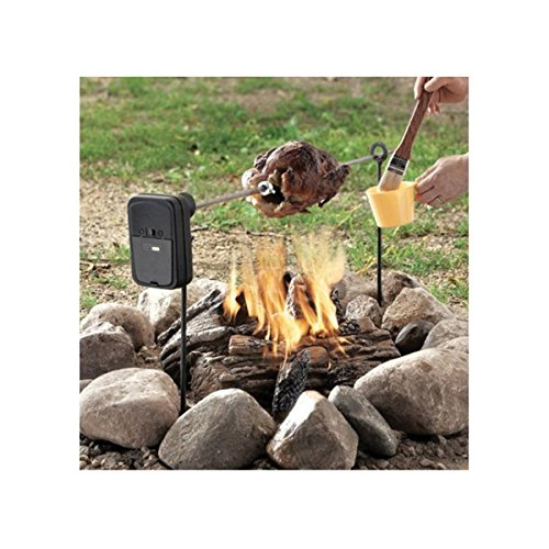 Grizzly Campfire Polished Steel Spit Rotisserie