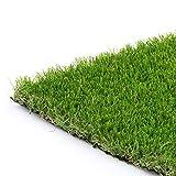 Synturfmats Kunstrasen für Hunde, 91 x 122 cm, hochwertiger Teppich, für drinnen und draußen, grüner Kunstrasen, 4-farbige Klingen