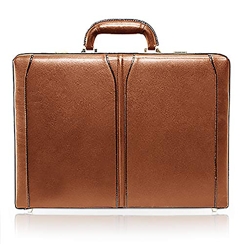 McKlein, V Series, Turner, Top Grain Cowhide Leather, Leather 4.5' Expandable Attaché Briefcase, Brown (80484)