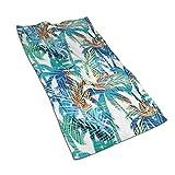 KENBOB Tropical Summer Print Toallas de Palma Toallas de baño de Manos para la Piscina de la Playa SPA Gimnasio Hotel Motel Alquiler de Habitaciones Toallas de baño Suaves de súper Manos