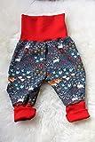 Baby Pumphose Schlupfhose Mitwachshose unisex newborn Gr. 56-68 Tiere Fuchs Hase