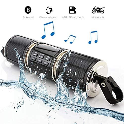 DULALA Motorrad Bluetooth Drahtlose wasserdichte Motorrad Stereo Lautsprecher MP3 Musik Player Audio Verstärker System Roller Fahrrad ATV UTV Jet Ski, AUX IN, USB, FM Radio