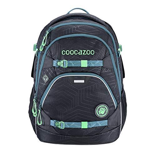 """coocazoo Schulrucksack ScaleRale """"Diveman"""" schwarz, ergonomischer Tornister, höhenverstellbar mit Brustgurt und Hüftgurt für Jungen 5. Klasse, 30 Liter"""