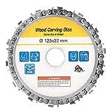 Rueda de amoladora de motosierra, disco de cadena de 4.92', cadena de repuesto profesional para corte de amoladora en ángulo 100/115