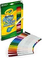 Crayola Super Tips marcadores, marcadores lavables, colores surtidos, 20 unidades, paquete de 12